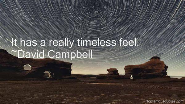 David Campbell Quotes