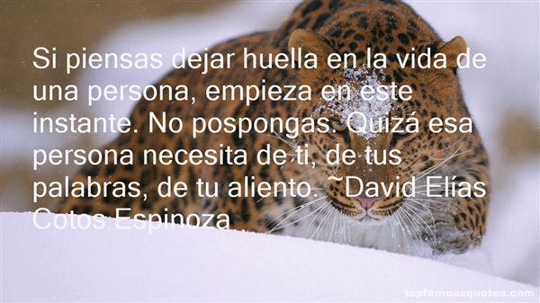 David Elías Cotos Espinoza Quotes