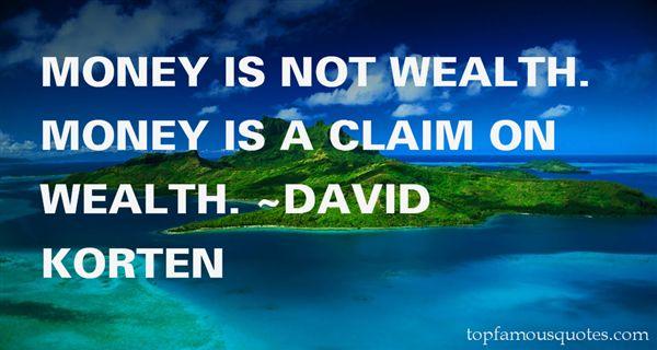 David Korten Quotes