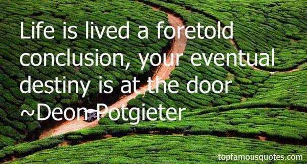 Deon Potgieter Quotes