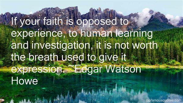 Edgar Watson Howe Quotes