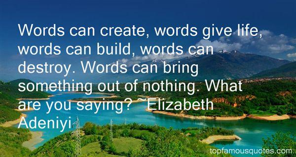 Elizabeth Adeniyi Quotes