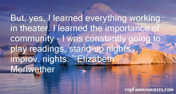 Elizabeth Meriwether Quotes