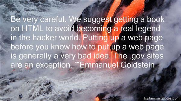Emmanuel Goldstein Quotes