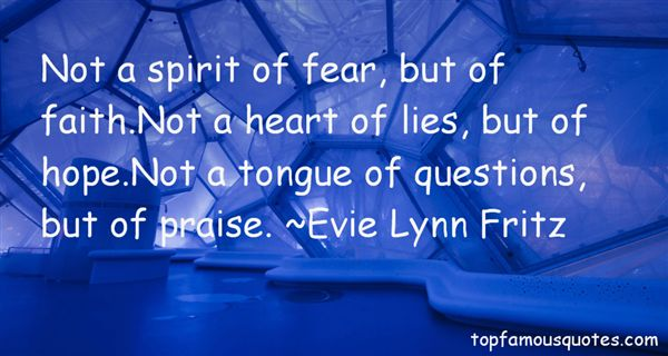 Evie Lynn Fritz Quotes