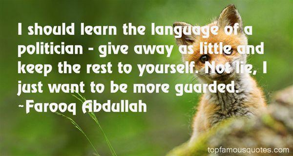 Farooq Abdullah Quotes