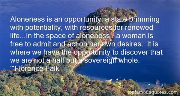 Florence Falk Quotes