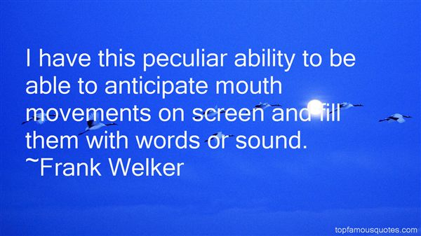 Frank Welker Quotes