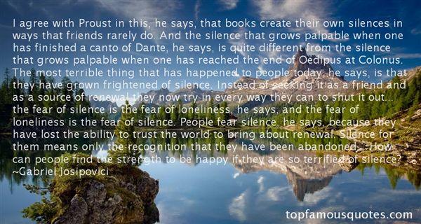 Gabriel Josipovici Quotes