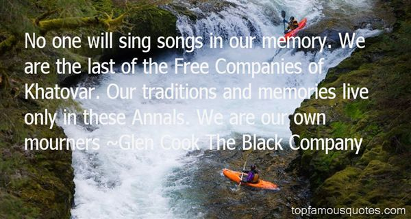 Glen Cook The Black Company Quotes