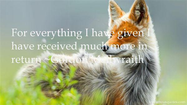 Gordon McIlwraith Quotes