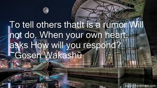 Gosen Wakashu Quotes