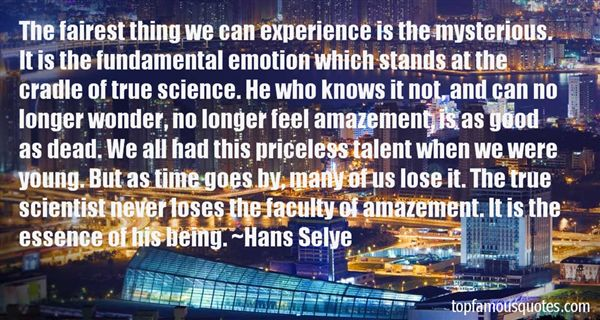Hans Selye Quotes