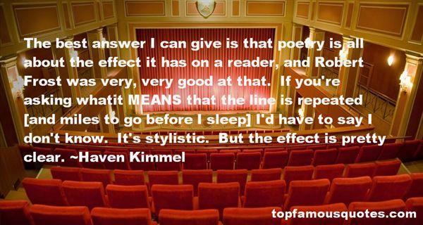 Haven Kimmel Quotes