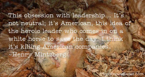 Henry Mintzberg Quotes