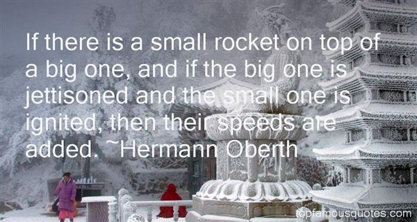Hermann Oberth Quotes