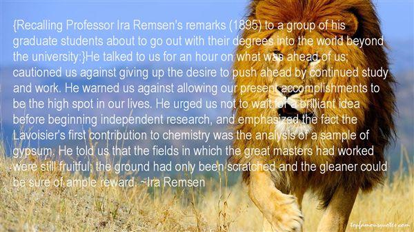 Ira Remsen Quotes