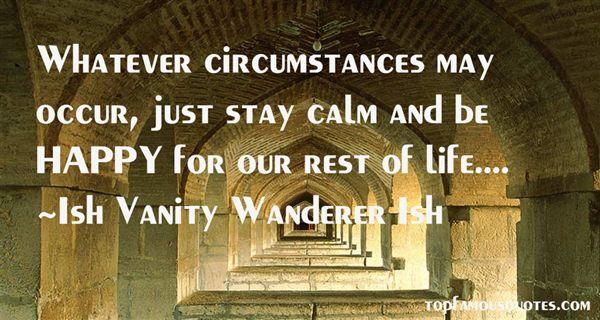 Ish Vanity Wanderer Ish Quotes