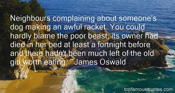 James Oswald Quotes