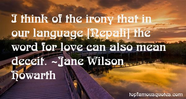 Jane Wilson Howarth Quotes
