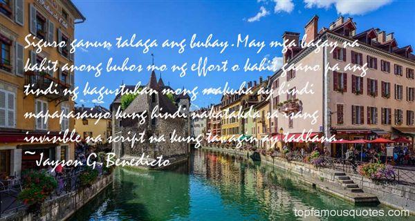 Jayson G. Benedicto Quotes