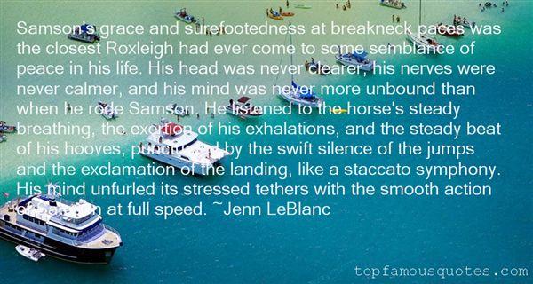 Jenn LeBlanc Quotes