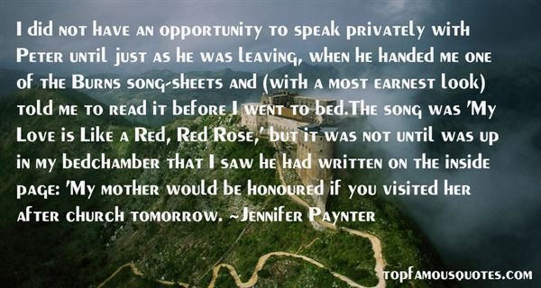 Jennifer Paynter Quotes