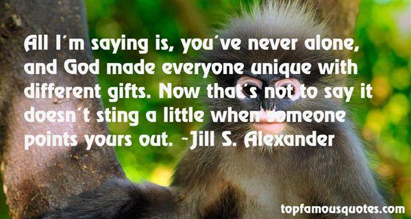 Jill S. Alexander Quotes