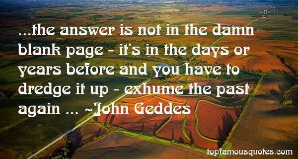 John Geddes Quotes