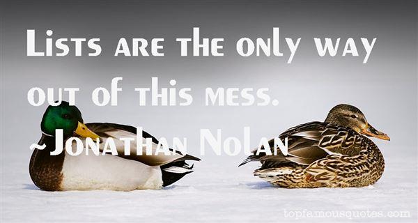 Jonathan Nolan Quotes