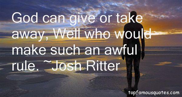 Josh Ritter Quotes
