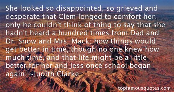 Judith Clarke Quotes