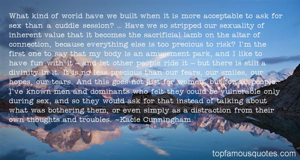 Kacie Cunningham Quotes