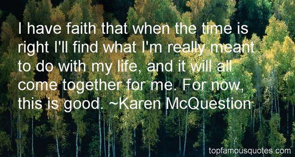 Karen McQuestion Quotes