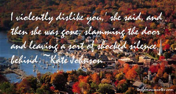 Kate Johnson Quotes