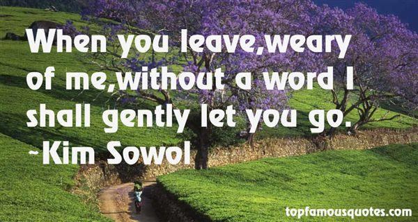 Kim Sowol Quotes
