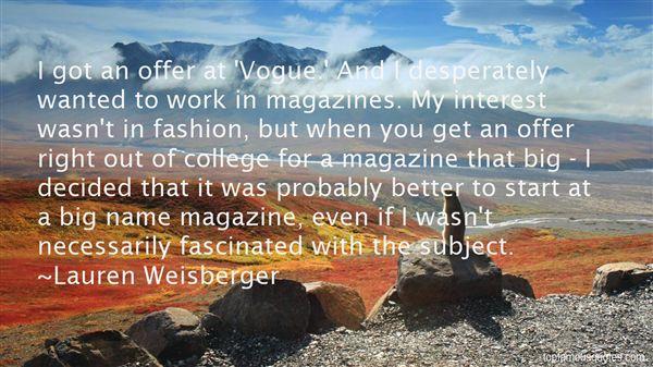 Lauren Weisberger Quotes