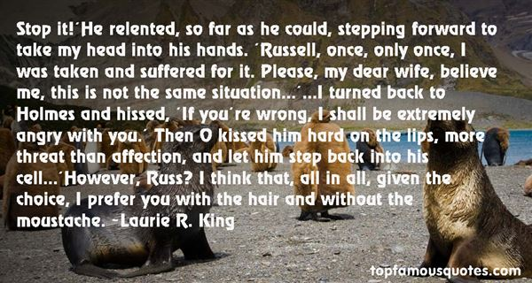 Laurie R. King Quotes