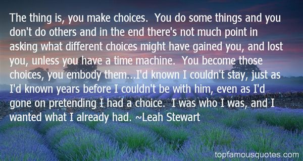 Leah Stewart Quotes