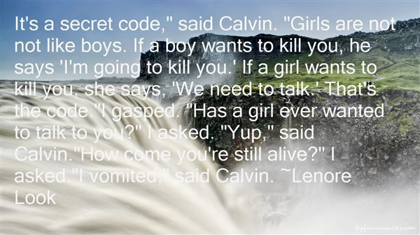 Lenore Look Quotes