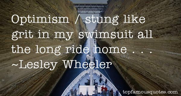 Lesley Wheeler Quotes