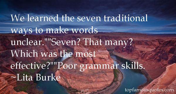 Lita Burke Quotes