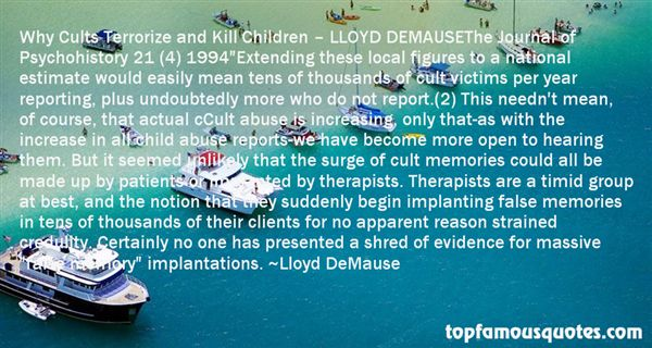 Lloyd DeMause Quotes