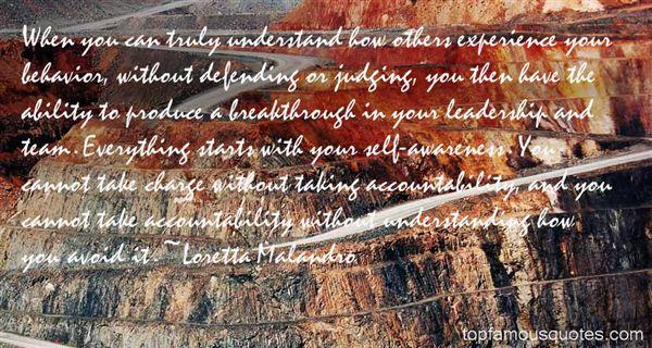 Loretta Malandro Quotes