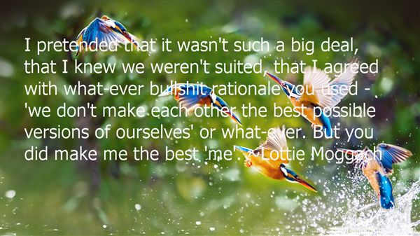Lottie Moggach Quotes