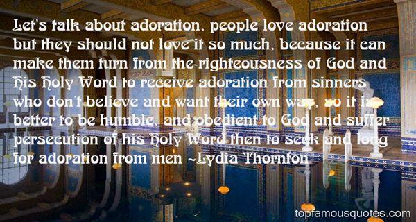 Lydia Thornton Quotes