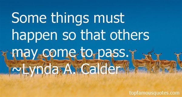 Lynda A. Calder Quotes