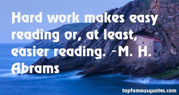 M. H. Abrams Quotes