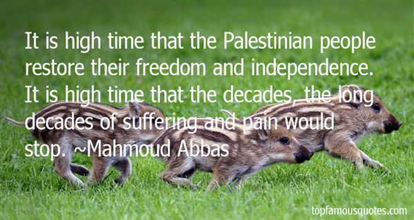 Mahmoud Abbas Quotes