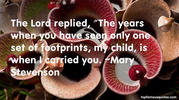 Mary Stevenson Quotes
